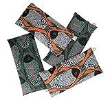 Peacegoods Lavender Eye Pillow Pack of (4) - Soft Cotton 4 x 8.5 - Naturally Soothing - Black Teal Orange Modern Fish