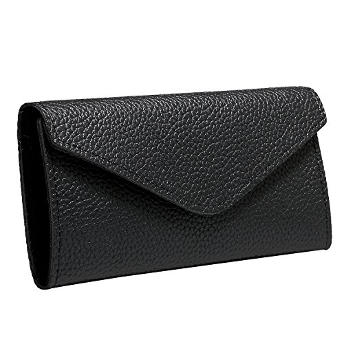 Pochette pour soirée Sac JewelryWe PU en noir main enveloppe femme de élégant à qXFxdwwEH