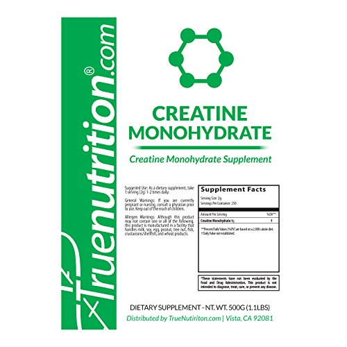 True Nutrition Creatine Monohydrate Powder | Powerful cell-volumizer that may...