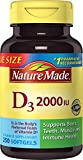 Nature Made, Vitamin D3 2,000 I.U. Liquid Softgels, 250-Count