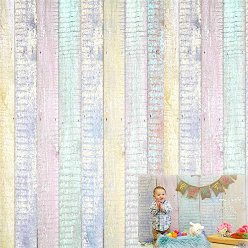 Kate 10x10ft Wood Fence Backgrounds for Photographer Easter Photography Backdrops Colorful Texture Backdrop Photo Booth by Kate (Image #7)