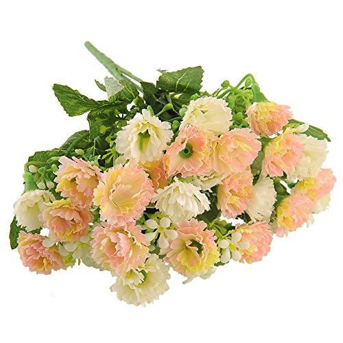 MingXiao 23 Cabeza Artificial Crisantemo Clavel Flor Falsa Bush Ramo Boda en casa