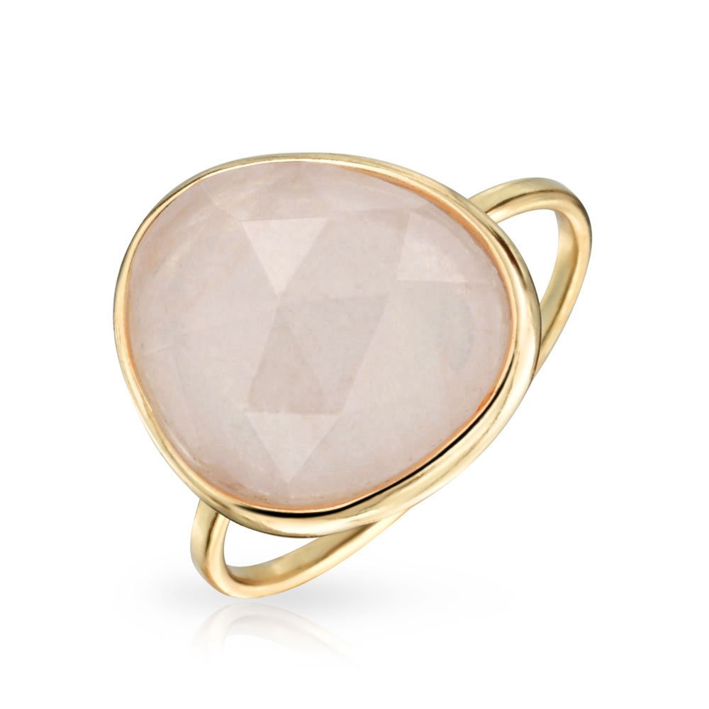 Bling Jewelry Simulated Rose Quartz Sterling Silver Ring PFS-31-0579