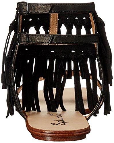 Splendid Taryn Leather Leather Splendid Sandals Black Black Taryn Sandals p6x7OtEnq