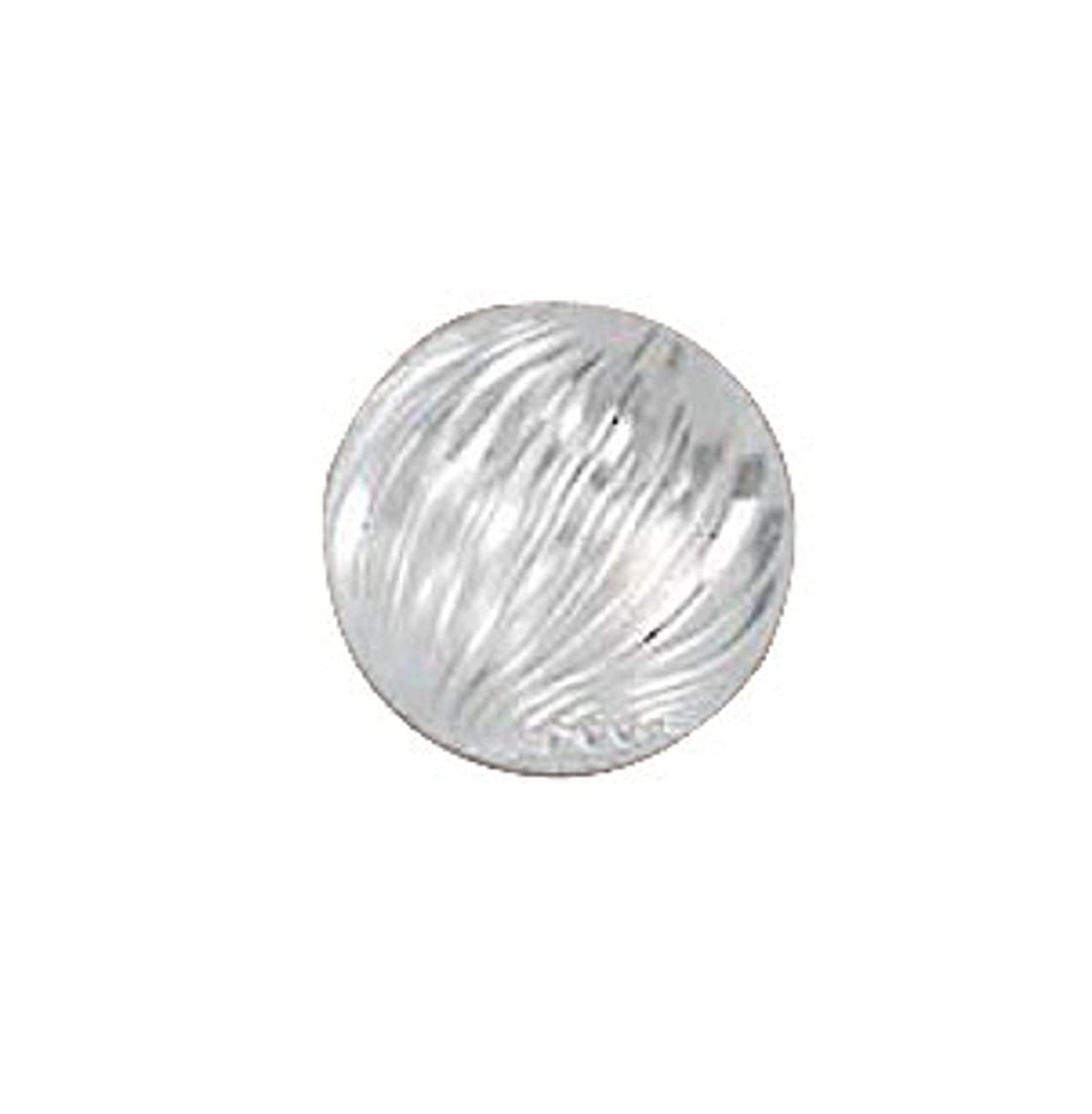 Sterling Silver Girls .8mm Box Chain 3mm Corrugated Swirl Pendant Necklace Spacer Bead