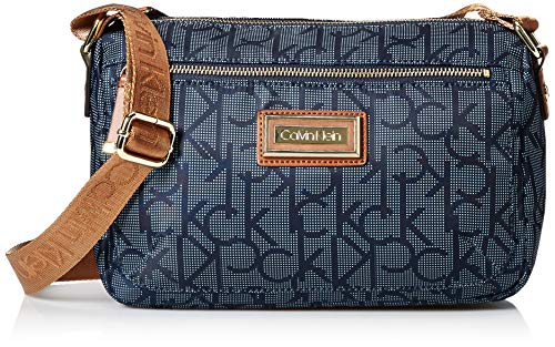 Calvin Klein Belfast Nylon Key Item Small Crossbody, dot Navy ()