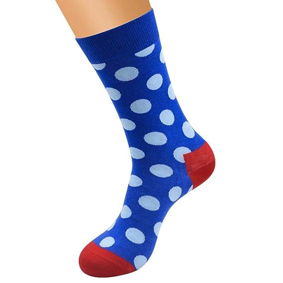 BHYDRY Mujeres lindas de algodón punto patrón de empalme Lady Socks Tube calcetines cómodos: Amazon.es: Ropa y accesorios