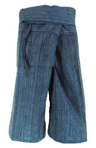 CandyHuskys Black Stripe Cotton Capri Fisherman Wrap Pants Trousers Yoga Pants