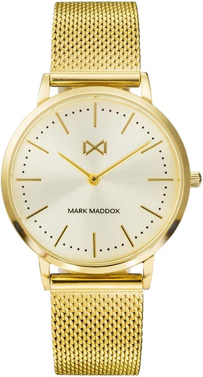 Reloj en Dorado ESF.champan Mark Maddox señora.MM7115-27
