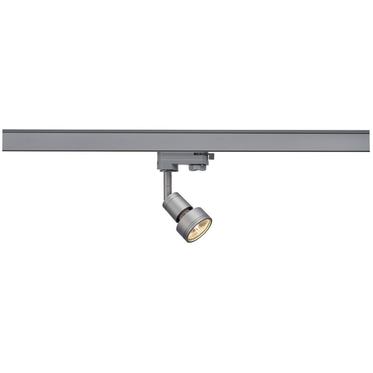 SLV LED 1-Phasen-Strahler PURI | Dreh- und schwenkbarer Schienen-Strahler, LED Spot, Deckenstrahler, Deckenleuchte, Schienensystem, Innenbeleuchtung, 3P-Lampe | GU10 QPAR51, schwarz, max. EEK A-A++ [Energieklasse D] 143390