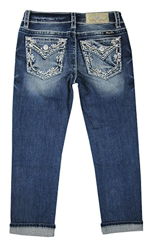 Miss Me Women's Mid-Rise Capri Jeans in Medium Blue Medium Blue 25 23 -