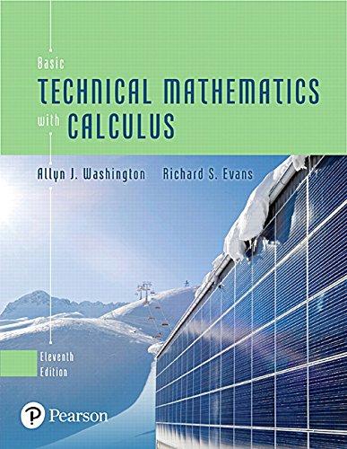 MyLab Math Standalone Access Card to accompany Washington/Evans, Basic Technical Mathematics with Calculus, 11/e