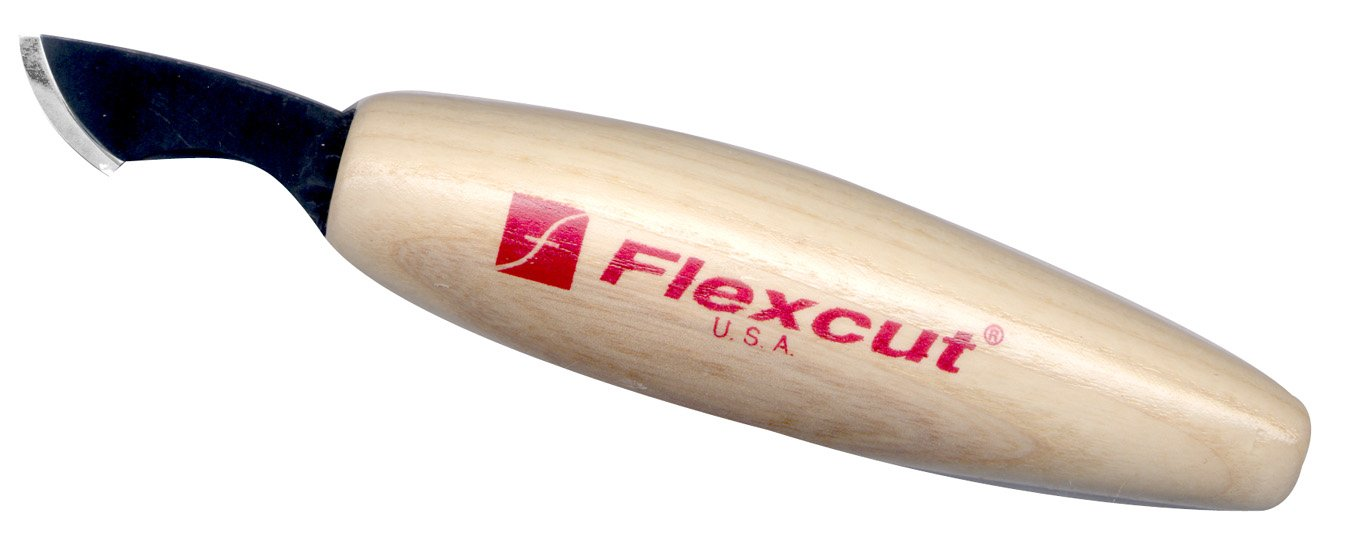 Flexcut Radius Knife, with Curved Bevel and High Carbon Blade (KN36)
