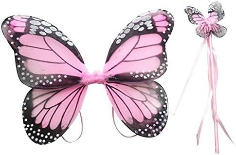 Moresave - Alas de mariposa y varita para disfraz de hadas para ...