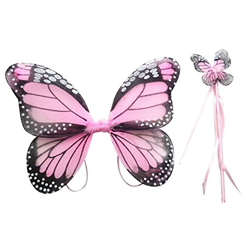Weixinbuy Fairy Girl Butterfly Wing Princess Party Halloween Costume Dress up -