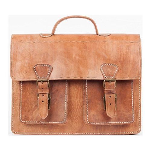 Bolsa de cuero de la vendimia, la bolsa profesor, maletín