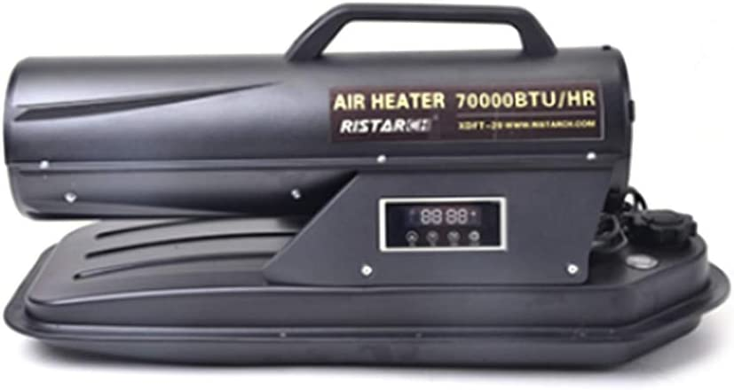 Industrial heater Even Calentador de Espacio de Ventilador con termostato Ajustable, Calentador de Torpedo de Aire Forzado de Queroseno/diésel, Caja Fuerte