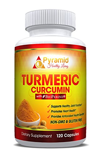 Premium Grade Turmeric Curcumin Supplement with Bioperine and 95% Standardized Curcuminoids for Optimal Absorption |1300mg Highest Potency, Turmeric Capsules| Pain Relief , Joint Support | Non-GMO