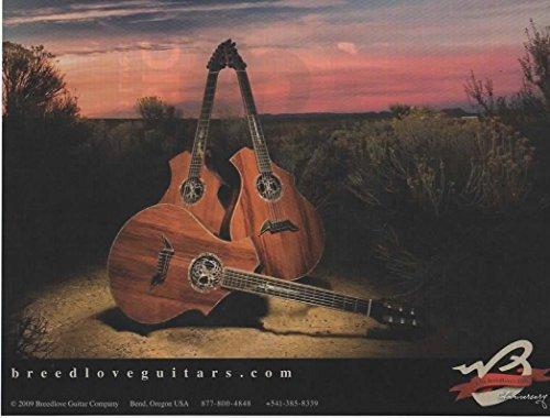 Magazine Print ad: 2009 Breedlove 35th Anniversary Guitar