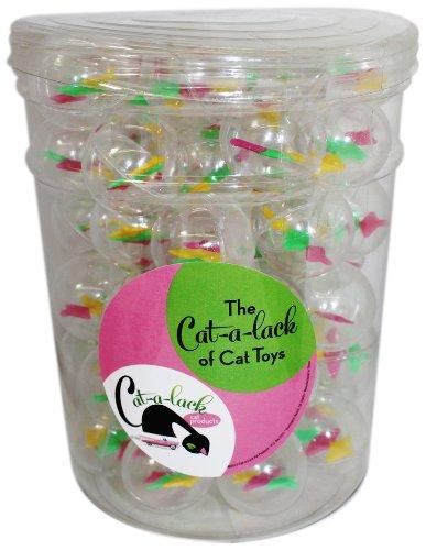 cat-a-lack teilig 4094Twirly Bälle in Vorratsglas für Haustiere