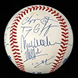 1995 Atlanta Braves Team Signed World Series Baseball Chipper Jones JSA COA
