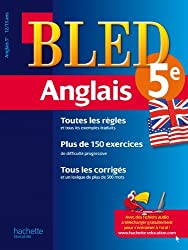 Cahier Bled - Anglais 5ème - 12-13 ans