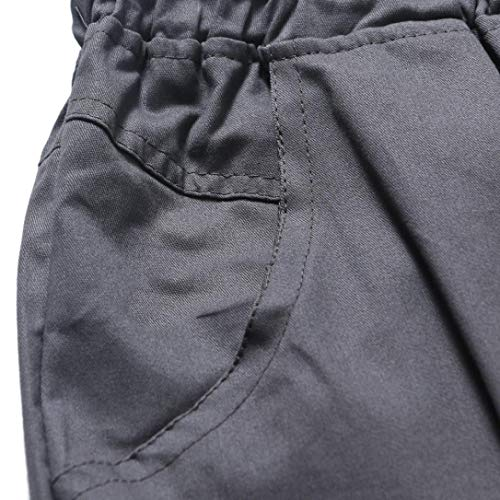 Coolred-Men Pure Colour Outdoor Relaxed Cotton Multi Pockets Cargo Pant