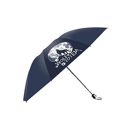 KXBYMX Tres Paraguas Plegables a Prueba de Viento, Grandes Paraguas Reforzados y sombrillas