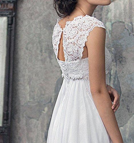 b0b35062de Lovelybride 2016 Empire Cap Sleeve Long Chiffon Lace Maternity Wedding Dress