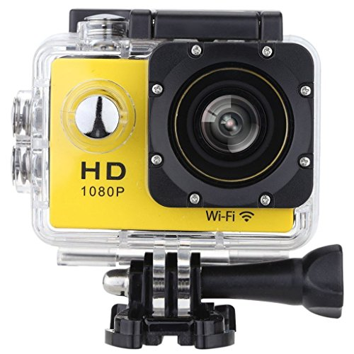 W8 12MP HD DV 1080p WiFi Sports Action Camera (Yellow) - 1