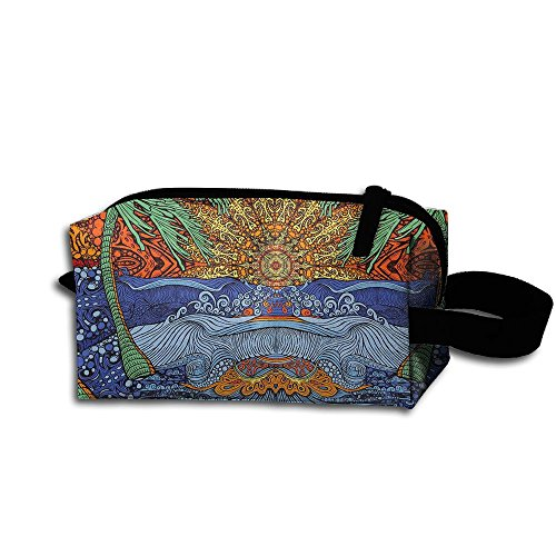 Hippie Hip Hop Cosmetic Makeup Bag Cosmetic Bag Accessory Case Premium Accessories For Girls by Zhaoqian