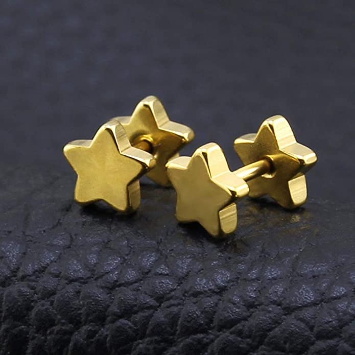 ZeSen Jewelry 4 Pares 16g Pendientes Falsas Dilataciones ...