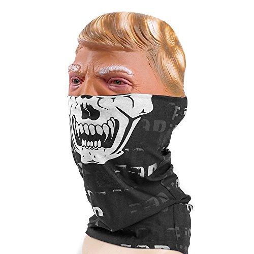 Rabbitgoo Seamless Skull Print Face Mask Bandanas for Halloween, Dust, Riding, (Print A Halloween Mask)