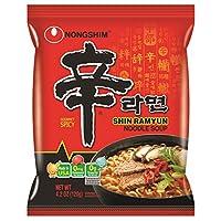 NongShim Shin Ramyun sopa de fideos, picante gourmet, 4.2 onzas (paquete de 20)