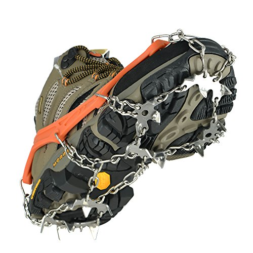 Universal Crampons Snow Traction Cleats - 19 Teeth Claw S...