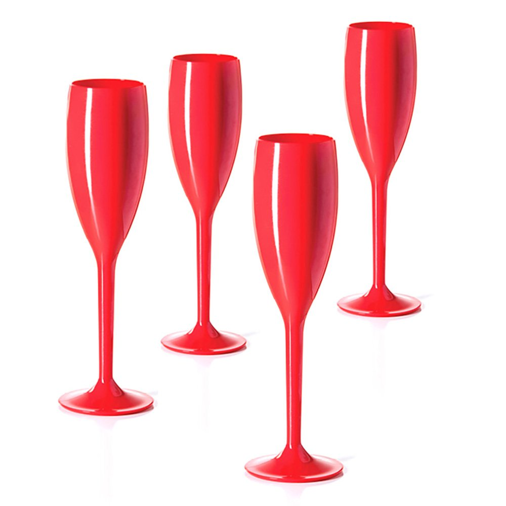 Champagne Flutes by Breelie BPA Free, Shatter Resistant, Colorful, durable Perfect for outdoor Set of 4 Acrylic champagne flutes in designer tote Available in 10 colors. Love is in the Air
