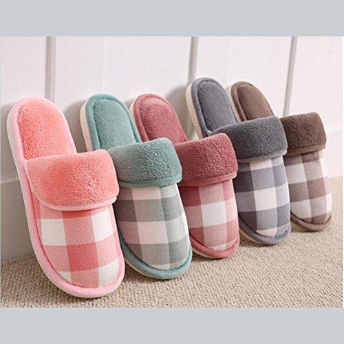 Felpa Fondo 012 Zhang2 eu40 36 Cotone Uomini Inverno Pantofole Donne E Eu Bello Mantieni Di Caldo Morbido Famiglia Slittata Slippers 0wwIpUq