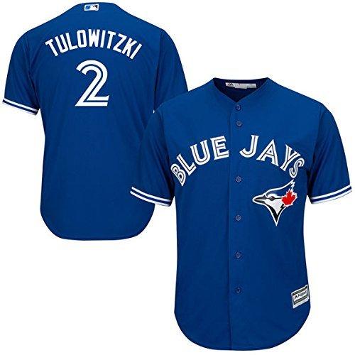 Majestic Troy Tulowitzki Toronto Blue Jays #2 Youth Alternate Jersey Blue (Youth Small 8)