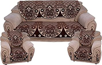 Akshaan Texo Fab Chinelle Sofa Cover For 5 Seater