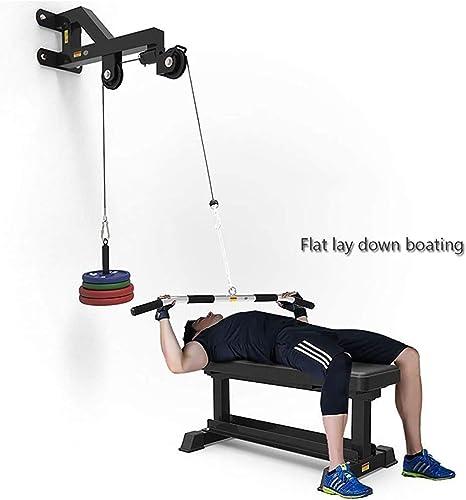 BESPORTBLE Triceps Formateur D/éroulant Exerciseur Fitness Dispositif Heavy Duty Poulie Syst/ème Bras Exercice de Musculation Mural Avant Bras Poignet Rouleau Formateur