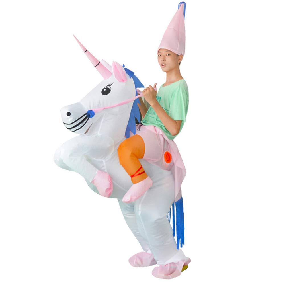 Tretree Disfraz Hinchable de Unicornio Rider, Disfraz Hinchable ...