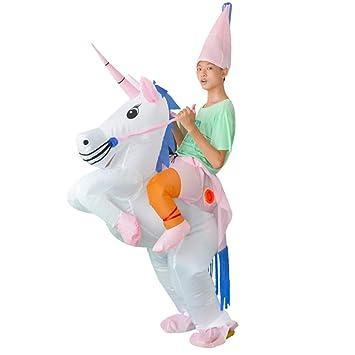 Tretree Disfraz Hinchable de Unicornio Rider, Disfraz ...