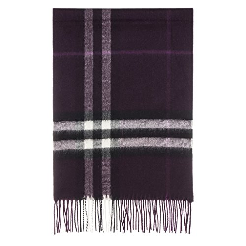 Burberry Women's Classic Check Scarf Aubergine by BURBERRY