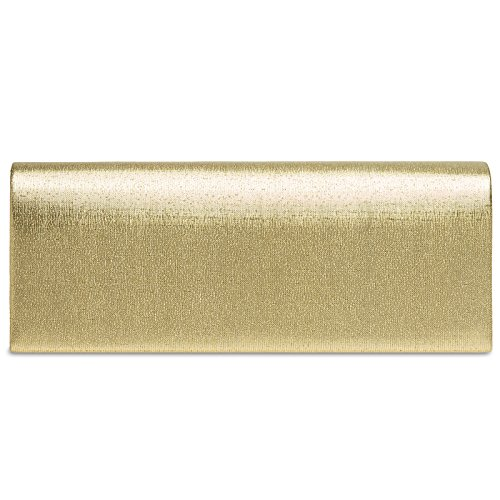 TA278 Evening Clutch Gold Satin Metallic Women CASPAR dqnUad