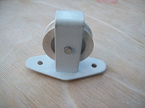Ironmongery World Cast Iron Single Double Wheel Screw Plate Pulley Clothes Ai.