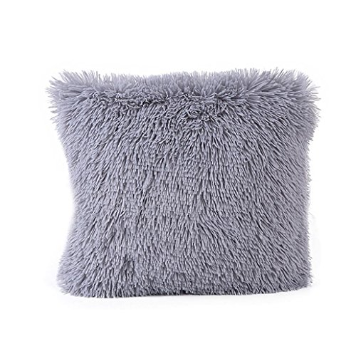 Price comparison product image Toponly Home  Clearance Removable Pillow Case, Decor Plush Sofa Waist Square Throw Cushion Cover (Gray, 43cm43cm/1616inch)
