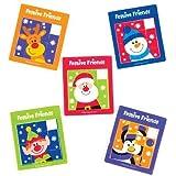 Schiebepuzzles Festliche Freunde für Kinder – Zum Spielen und als Geschenk für Kinder zu Weihnachten (5 Stück)