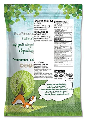 Harina de centeno oscuro orgánico de Food to Live (grano ...