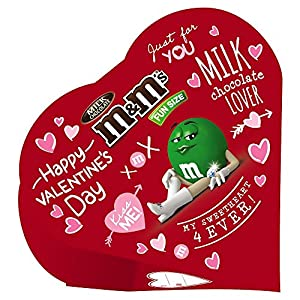 M&M'S Valentine's Day Milk Chocolate Candy Exchange Heart Gift Box, 3.7 oz (Pack of 6)