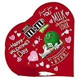 M&M'S Valentine's Day Milk Chocolate Candy Exchange Heart Gift Box, 3.7-Ounce (Pack of 6)